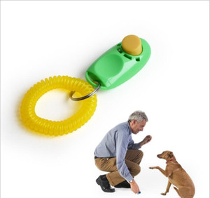 Dog Button Clicker Pet Sound Trainer With Wrist Band Aid Guide Pet Click Training Tool Dogs Supplies 11 Co wmtktR dh_garden
