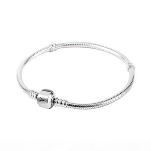 High End K Wholesale 925 Sterling Silver Bracelets 3mm Snake Chain Fit Pandora Charm Bead Bangle Bracelet Diy Jewelry Gift For Men Women