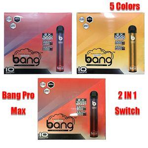 Bang Pro Max Switch 2 IN 1 Disposable Device 1000mAh Battery Prefilled Pod 2000 Puff Kit XXtra Double Vape Pen VS XXL Randm