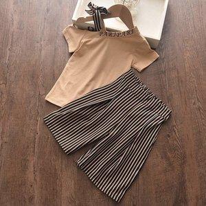 Menoea Kız Giyim Setleri Yeni Giysiler Kolsuz Yay Çiçek Uzun Pantolon 3-7Y Çocuk Y200831 için Suits