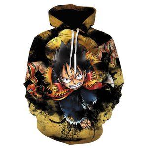 Men's Hoodies & Sweatshirts Fashion 2021 Autumn Winter One Piece Luffy Sweatshirt High Quality Men Hip Hop Moleton Masculino