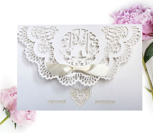 Carte d'invitation de mariage personnalisée Hollow Love Formé Bird Wedding Party Invitations Festival Anniversaire Fête Invitation Carte OWA2643