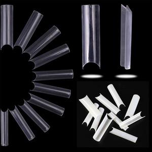 500 шт. Extra Длинные квадратные формы прямые ложные наконечники ногтей наращивание ногтей французский акриловый салон поддельные наконечники 2021