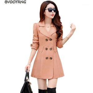 Women's Trench Coats Coat For Women Spring Female 2021 Long Sleeve Autumn Women's Windbreaker Plus Size Slim Outerwear K00441