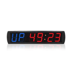 Настенные часы Большой Светодиодный Светодиодный Фитнес-интервал Тихомер Crossfit Часы с спортивным секундомером