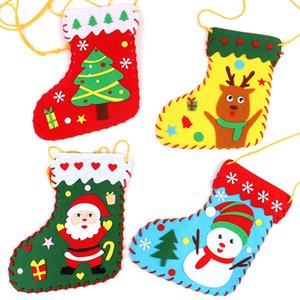 Cute Christmas Stockings DIY Christmas Socks Decor for Kids Children Candy Crafts Socks Toys Bags Festival Kid Room Decor