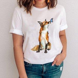 Women Graphic Mujer Camisetas Printing 90s Fox Cartoon Animal Clothes Lady Tees Print Tops Clothing Female Tshirt T Shirt