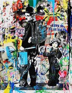 Mr. Brainwash Alec Monopoly Home Decor Handgemalte HD-Druckölgemälde auf Leinwand Wandkunst Leinwandbilder, EM09