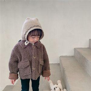 Hot Baby Girls Winter Coats 1 to 10 Year Old Kids Fleece Jackets for Girls Cotton Thicken Children Boys Cardigan Kid Tops D08304 201110