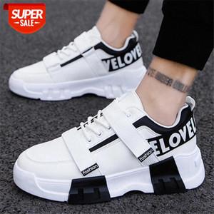 Модные кроссовки мужские высококачественные шнурки PU холст обувь Высокий топ мужской бренд обувь мужская повседневная обувь мода черные кроссовки # 1a8r