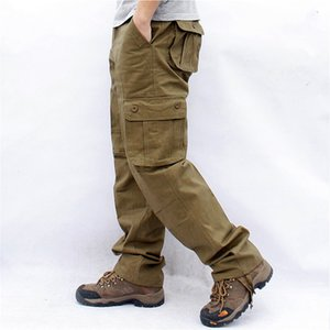 Overalls Men Cargo Pants Casual Multi Pockets Military Tactical Work Pants Pantalon Hombre Streetwear Army Straight Trousers 44 201222
