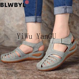 Nausk woman 2020 estate pelle sandali vintage fibbia casual cucito donne retrò sandalias femminile donna piattaforma scarpe da donna 36-46