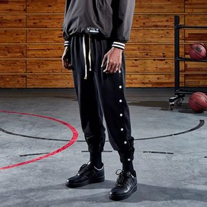 High Street Fog Basketball Pants Men Women High Quality Side-breasted Fashion Casual Fitness Pants Loose Tide Brand Sweatpants