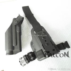 GL0CK 17/19/22/23/31 Drop Leg Gun Holster Platform Safariland 전술적 인 Ligh와 Safariland 다리 패들 드롭