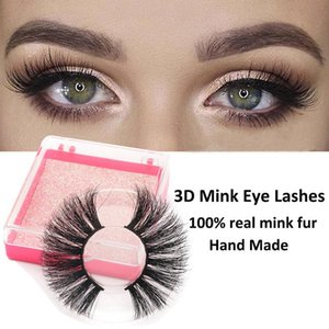 Long 25mm Mink Eyelashes Natural Thick Fake Lashes Handmade Cruelty-free False Eyelashes Makeup Eyelash Extension Supplies