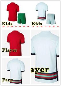 20-21 RONALDO soccer jerseys JOAO FELIX NEVES BERNARDO CANCELO RUBEN NEVES 2021 away white kids national team player version football shirt