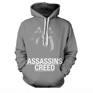 Assassin's Creed Hoodie Men's Sweatshirt Casual Hoodie Hooded Jacket Fashion Men's Clothing 2018 Street Clothing Large Size