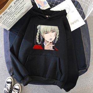 Kirari Momobami - Kakegurui Hoodie Vintage Women Hooded oversized Sweatshirt Winter Harajuku Ladie Sweatshirt Streetwear Hoodies