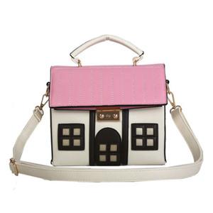 Personality House Shaped Leather Women Handbags 2020 Fashion Creative Girl Messenger Crossbody Bag Shoulder Bolsa Feminina