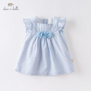 DBS12672 Dave Bella Summer Baby niña linda apliques florales vestido niños vestido de fiesta de moda niños infantil lolita ropa T200709