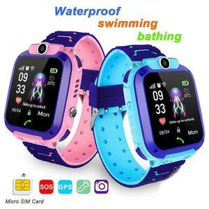 Q12b children's touch screen smart watch, Android, IOS, 2G, SIM card locator, waterpr