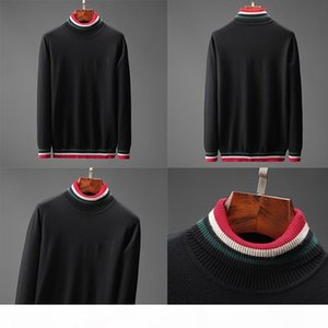 Designer sweaters for Mens Thick Long Sleeve Top Autumn Spring fashion luxury clothing letter embroidery pullover Sweater black Coat jumper