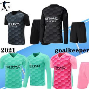 Gardien de but Full 2020 2021 Man Kun Aguero City 20 21 Jerseys Soccer Silva Maillot Ederson M. Chemise de football Grimshaw Hommes Kits Camiseta