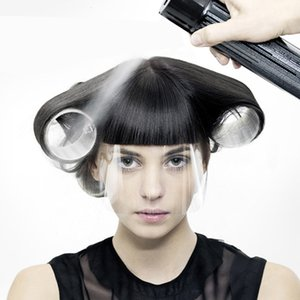 50Pcs Hair Salon Masques Hairspray Bouclier de coupe Coloration visage Protection Fournitures de coiffure à usage unique en plastique transparent visage