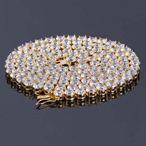Top Hombre Cadena de tenis Hip Hop Jewelry 5mm Cubic Zircon Sliver Material de cobre CZ Collar Link 18 pulgadas 20 pulgadas 24 pulgadas 30 pulgadas 92 L2