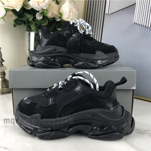 Paris Chaussures Casual Triple-S Sole Effacer Formateurs Dad Chaussures Sneaker Lime Green Cristal Bas Hommes Femmes Chaussures Mode Loisirs Chaussures