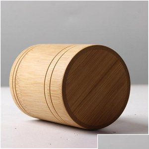 Bamboo Storage Bottles Jars Wooden Small Box Containers Handmade For Spices Tea Coffee Sugar Receive With sqcCxb bbgargden