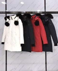 Mükemmel Kalite Gerçek Fox Kürk kadın Giyim Parka Ceket Kış Uzun Aşağı Ceket Su Geçirmez Rüzgar Geçirmez Nefes S-XXL # L01