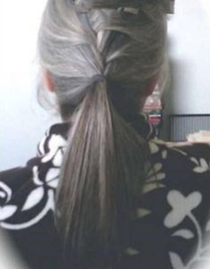 100% Naturel Real Hair Grey Ponytail Ponytail Parrucchino Silky Dritto Straight Donne Ponytail Estensione Sale e Pepe Silver Grey Ponytails120g