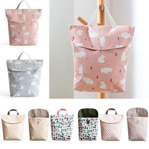 Pad Baby Multifunctional Organizer Washable Waterproof Fashion Storage Bag Reusable Sanitary Diaper Nursing Wet Dry Pad Bag Jtimx