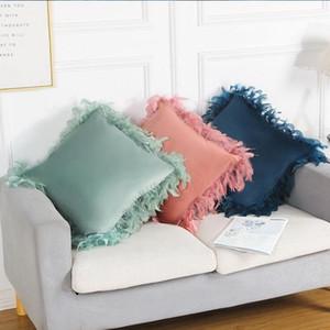 Coussin d'oreiller Coussin de coussin de velours doux avec plume pour salon au lit du canapé et chaise de bureau The Tillowcase décoratif de luxe Zyy88