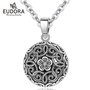Eudora Harmony Pregnancy ball Necklace Pregnancy bola ball pendant with Flower of life Luxury Vintage Jewelry for pregnant woman Q1129