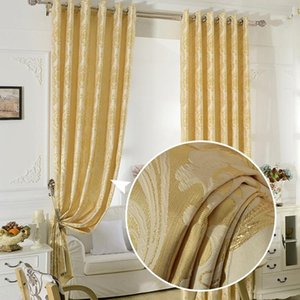 Fyfuyoufy upmarket الأوروبية الذهبي الملكي الستائر الفاخرة لغرفة النوم غرفة المعيشة الجاكار نافذة الستائر