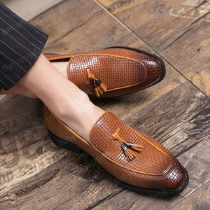 Mens Loafers tassel slip on Luxury Shoes leather High Quality Casual club party Soft Flats Casual Men Shoes