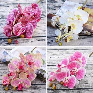 3D Künstliche Schmetterling Orchidee Blumen Gefälschte Motte Flor Orchidee Blume für Haushochzeit DIY Dekoration Real Touch Home Decor GWD4381