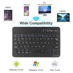 2020 new fashion tablet computer laptop smart phone ultra-thin bluetooth keyboard for Windows supports IOS Android system