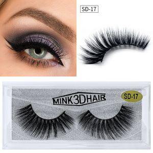 3D Mink Lashes Eyelashes Soft Natural Extension Mink Fake Eyelashes 20 Styles Thick False Eyelashes Makeup Lashes
