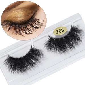 Handmade 25mm Long 3D Faxu Mink Lash Hair False Eyelashes Dramatic Volumn Fluffies Eyelashes Thick Wispies Lash Extension