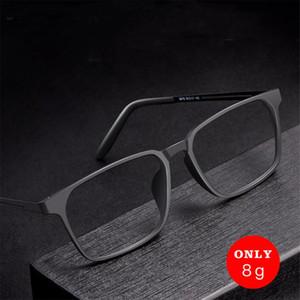 BARCUR Erkekler Kadınlar Optik Gözlük Çerçevesi Titanyum Alaşım TR90 Çerçeve Ultralight Kare Miyopi Reçete Gözlükler