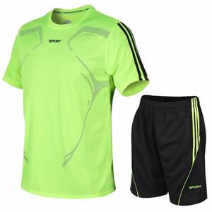 Quick Dry Men Running Shirts Sports Set Suits Mens Workout Polo Tennis Shirt Shorts Fitness Sportswear Soccer Basketball Jersey