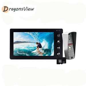 Dragonsview Video Door Phone Intercom System 7 inch White Indoor Monitor 1200TVL IR Night Vision Rainproof Outdoor Doorbell1