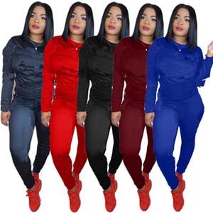 جديد إمرأة رياضية ملابس مثير عارضة 2 قطعة مجموعة قمم السراويل sweatsuits اثنين من قطعة رياضية الشارع الشهير sweatsuits s-3xl