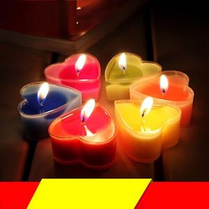 Valentinstag Herzkerze Romantische duftende Kerze Zierlicher Ausdruck Tee Wachs Valentinstag Hochzeitsdekoration T9i00993