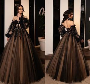 Robe De Soirée De Mariage Black and Champagne Evening Dresses For Women Party A Line Prom Dress Vestidos De La Celebridad
