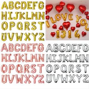 18 Inç Folyo Alfabe Harfleri A-Z Balonlar 2021 Yeni Yıl Sevgililer Günü Şamandıra Balon Düğün Mutlu Doğum Günü Partisi Dekor Çocuk Oyuncakları E122302