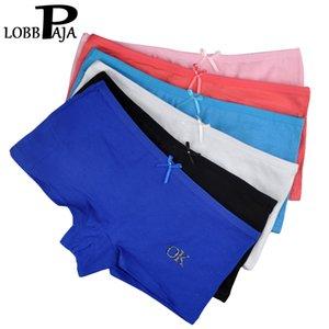 LOBBPAJA LOT 6 PCS Sous-vêtements Femmes Coton Panties Filles Boxers Shorts Boyshorts Sous-fonds Dames Intimate Lingerie # 568 201112